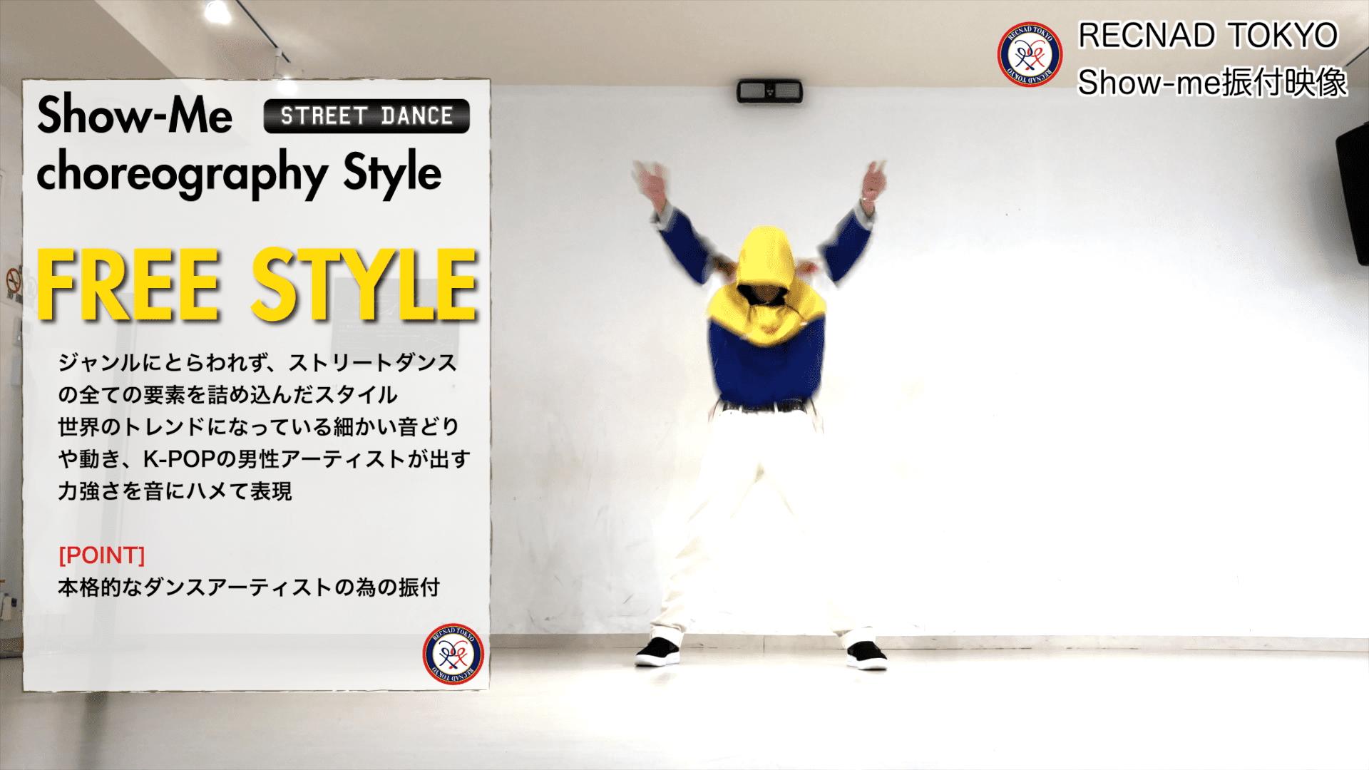 FREE STYLE フリースタイル 振付依頼 振付師キャスティング用 | ストリートダンス ジャンル別 振り付け